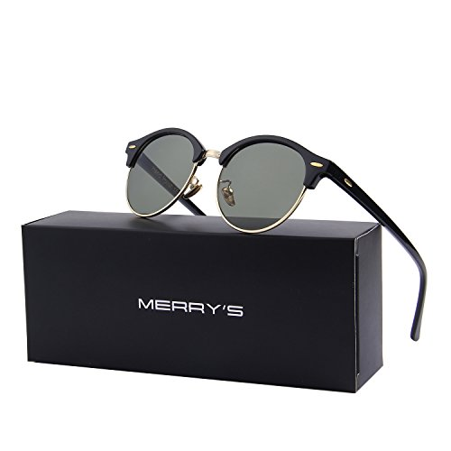 8b197aed5ca MERRY S Polarized Sunglasses for Men Women Semi Rimless Retro Brand Sun  Glasses S8054 From MERRY S