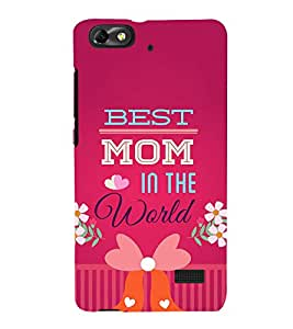 Fiobs Designer Back Case Cover for Huawei Honor 4C :: Huawei G Play Mini (Best Mom In The World Messages )