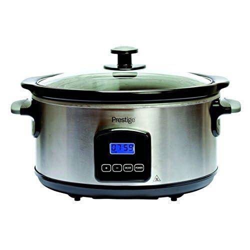 41IiqmExj3L. SS500  - Prestige 46447 Digital Slow Cooker, 5.5 Litre, Silver