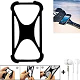 K-S-Trade Handyhülle Caterpillar Cat S41 Bumper Schutzhülle Silikon Schutz Hülle Cover Case Silikoncase Silikonbumper TPU Softcase Smartphone, schwarz (1x), Headphones