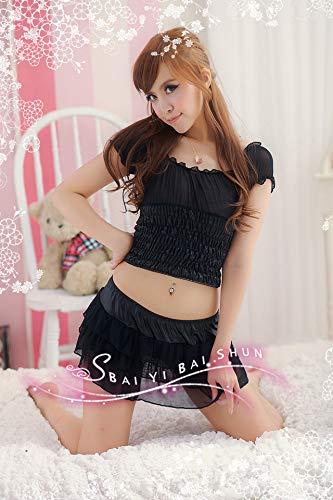 KEDCD Handschellen Sexspielzeug Kostüm Kragen Tanzkostüm Nachtsänger schwarz