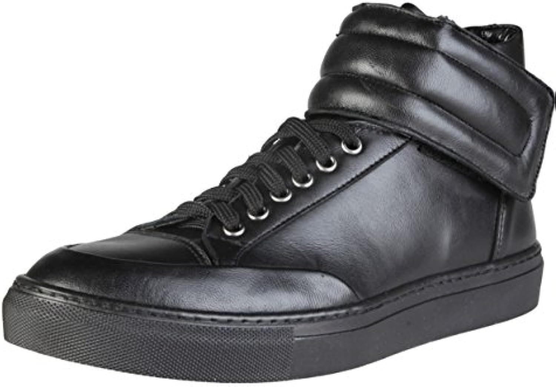 Versace V 1969 Nestor Hi Herrenschuhe High Top Leder Sneakers Boots Sport Schuhe Gr. 41 44 BITTE GRöSSEN HINWEISE
