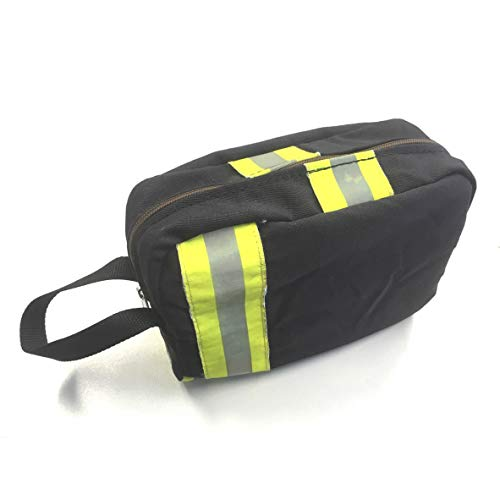 Preisvergleich Produktbild Roter Hahn 112 Feuerwehr Kulturtasche / Navy / Waschtasche,  Kulturbeutel,  Waschbeutel,  Reisetasche / 25x20x10 cm / Original gebrauchter Feuerwehrkleidung