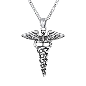 U7 Collar de Enfermera caduceo