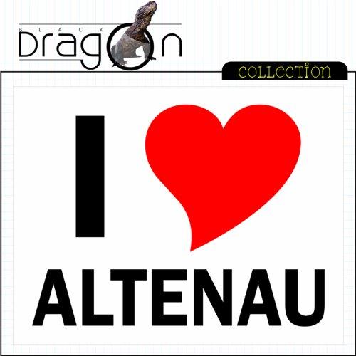 T-Shirt mit Städtenamen - i Love Altenau - Herren - unisex Weiß