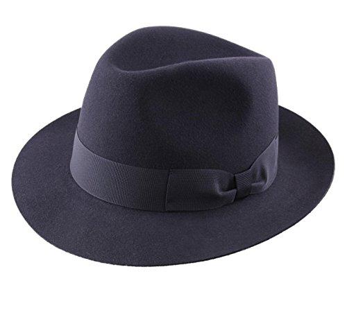 Classic Italy - Chapeau Fedora imperméable Feutre - 5 Coloris - Homme ou Femme Heritage Bogart