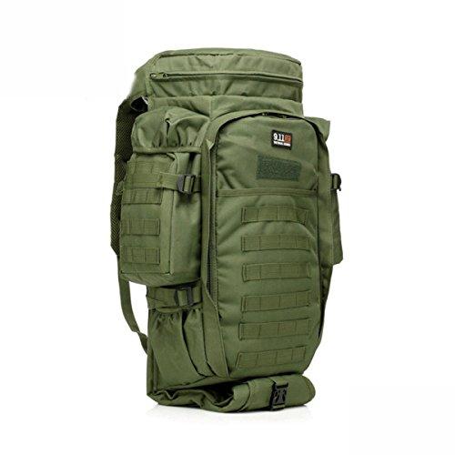 Outdoor Bergsteigen Tasche Groß Tarnung Multifunktional Rucksack Taktischen Green