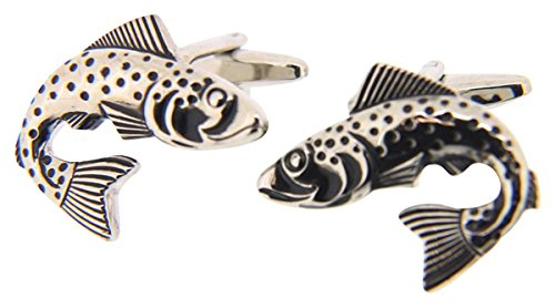 Argento / nero trota pesci Paese Gemelli di David Van Hagen