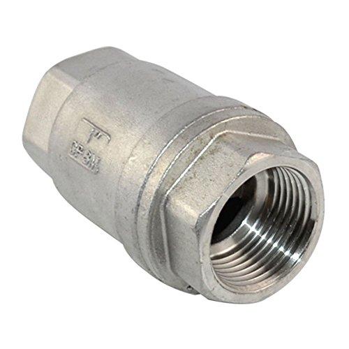 globalma Edelstahl 316BSPP Weiblich Vertikale Rückschlagventil, federbetätigte Inline-Low Risse Druck WOG1000CF8M (Vertikale Stahl-flüssigkeit)