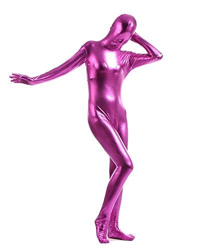 Ganzkörperanzug Kostüm Ganzkörper Anzug Suit Halloween Kostüm Rose XL (Silber Morph Anzug)