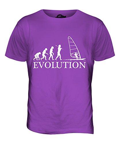 CandyMix Windsurfen Evolution Des Menschen Herren T Shirt Violett