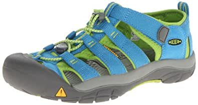 Keen Unisex Children NEWPORT H2 Y-SWEDISH BLUE/LIME GREEN Sandals Turquoise Size: 2.5