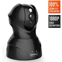 Wlan IP Kamera 1080P, KAMTRON HD WiFi Überwachungskamera,mit 350°/100°Schwenkbar,Home und Baby Monitor mit Bewegungserkennung, Zwei-Wege-Audio, Nachtsicht, unterstützt Fernalarm und Mobile App Kontrolle