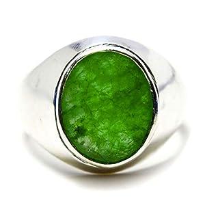 5ct Smaragd Edelstein handgefertigt 92,5% Sterling Silber Bold Ring für Herren
