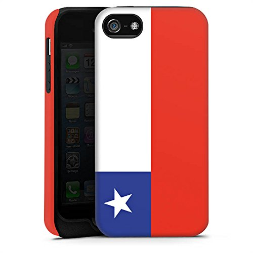 Apple iPhone 5s Housse Étui Protection Coque Chili Drapeau Ballon de football Cas Tough terne