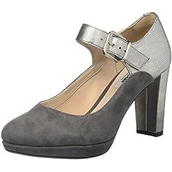 Clarks Damen Kendra Gaby Pumps, Grau (Dark Grey Combi), 37 EU