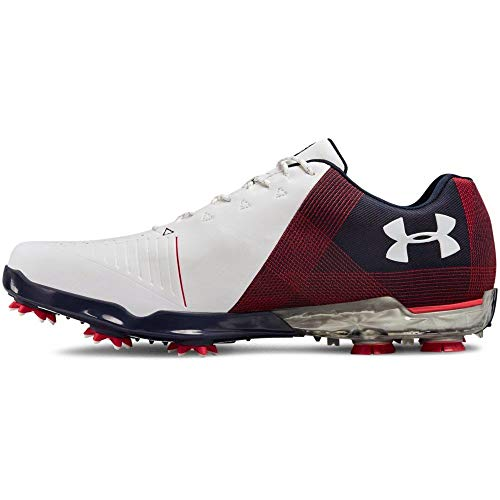 Under Armour Herren UA Spieth 2 Golfschuhe - Weiß/Midnight Marine - UK 8.5 (Under Armour Marine)