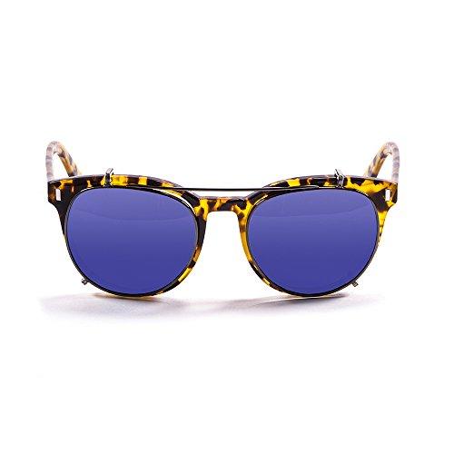 OCEAN SUNGLASSES - Mr.Franklin - lunettes de soleil polarisÃBlackrolles  - Monture : Marron - Verres : Revo Bleu (71001.2)