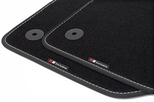 teileplus24 BEF845 Fußmatten mit Exclusive-line Design Bandeinfassung und Ziernähten Fiat 500 Autoteppich, Fußmatte