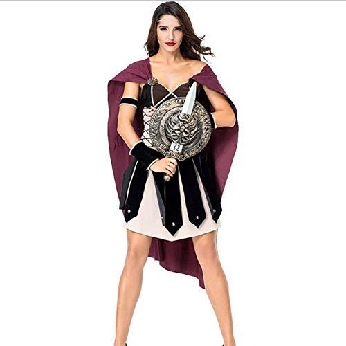 ASDF Halloween Party Kostüme Weibliche Krieger COS Kleidung Fighter COS - Weibliche Römischen Kostüm