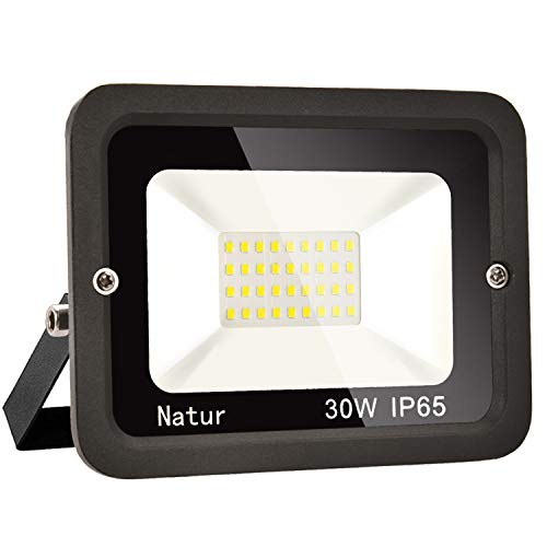 30W LED Foco exterior alto brillo Proyector led exterior de impermeable IP65,Blanco...