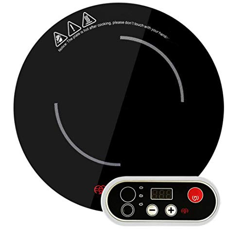 XGHW Induktionsherd Portable Countertop Burner 1200w Embedded Kommerzielle Runde Hot Pot Restaurant Induktionsherd Schwarz