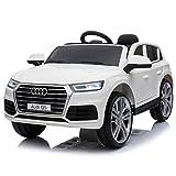 Audi Q5 Quattro SUV Elektro Kinderauto Kinderfahrzeug Ride-On 12V Kinder Elektroauto (Weiss)