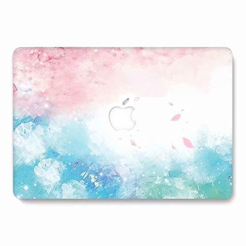 AQYLQ MacBook Schutzhülle/Hard Case Cover Laptop Hülle [Für 2018 MacBook Air 13 Zoll Retina Modell A1932], Plastik Matt Hartschale Schutzhülle, 789 pink & grün (Zoll Pink Cover Macbook 13 Air)