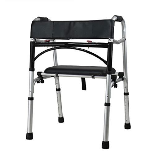 Drive Healthcare con Placa de Asiento Ayudas para Caminar Marco de Caminata Plegable Caminata médica para Ancianos, Ancianos, discapacitados, discapacitados...