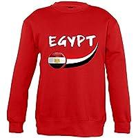 Supportershop–4–Sudadera Egipto (4Mixta niños, Rojo, FR: S (Talla Fabricante: 4años)