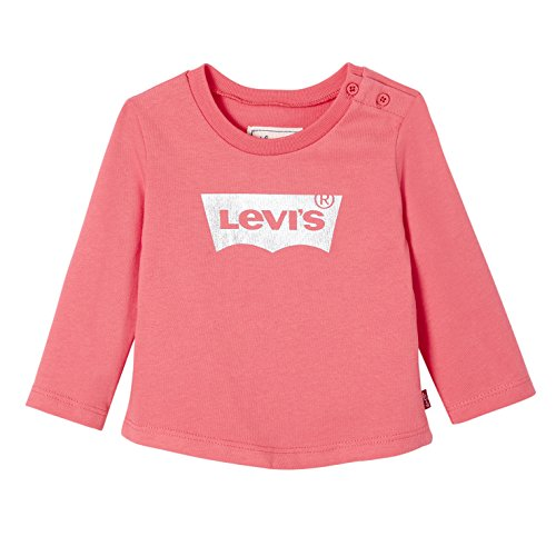 Levi's kids, t-shirt bambina, rosa (mid pink 34), 2-3 anni (taglia produttore: 36m)
