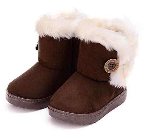 Botas de Nieve para Niños Invierno Felpa Botines Calentar Botas de Nieve Bebés Antideslizantes Zapatos...