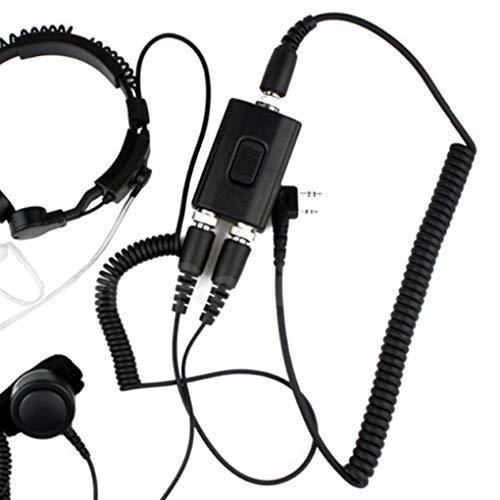 Lindahaot Throat Mic Luftröhren-Headset Ersatz für Kenwood F48 3207 Baofeng UV-5R 2 Pin Walkie Talkie CB Zwei-Wege-Radio Kenwood Radio Headsets