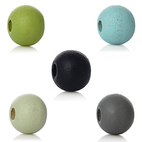 souarts-mixte-boules-perles-artificielles-intercalaires-en-bois-multicolore-lot-de-1000pcs