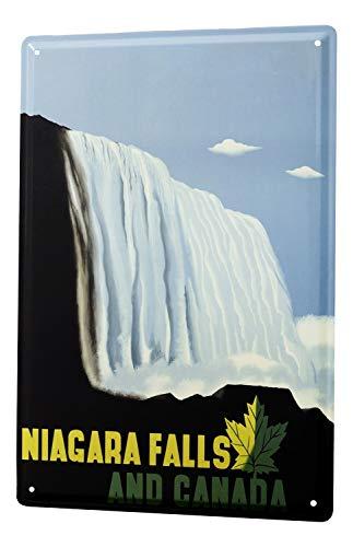 Blechschild Welt Reise Niagara Fälle Wand Deko Schild 20X30 cm