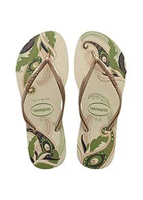 23fc67a59d5d Havaianas Slim Organic Flip Flop Beige - 2-3 UK