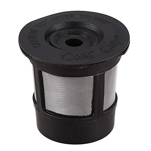 Zeagro Wiederverwendbarer Becher für Keurig Solo Filter Pod K-Cup Kaffee, Edelstahlgeflecht, schwarzes Muster, 1 Stück (Pod K-cup Wiederverwendbare)