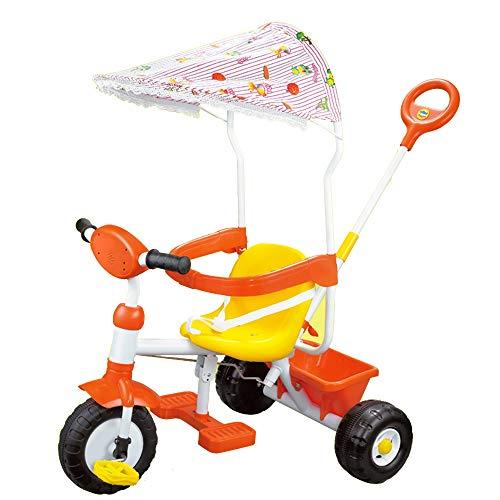 YUMEIGE Dreiräder Kinder Dreirad Last Gewicht 25 kg Kleinkind Trike mit Sonnenschirm Kinderwagen mit Ablagekorb für 3-5 Jahre alte Kinder Geburtstagsgeschenk (Color : Red)