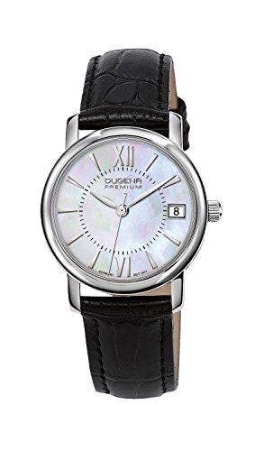 Dugena Damen-Armbanduhr RONDO PETIT Analog Quarz Leder 7000138