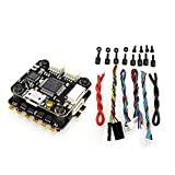 Justdodo HAKRC Mini F3 Flytower Flight Controller OSD Integrato 4 in 1 BLHeli 15A ESC Uscita 5V 2A Integrata BEC per FPV RC Drone-Black