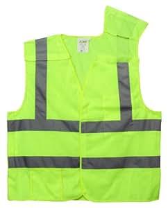 Cordova vb231pl Classe II 5points Breakaway pour femme avec poches, 2Argent Bande réfléchissante, vert citron, grand par Cordova