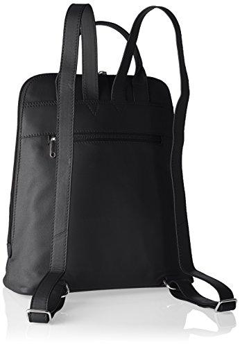 BREE Damen Toulouse 8 Rucksackhandtaschen, 28x33x16 cm Schwarz (black smooth 909)