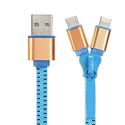 Yosou Cable Lightning et Micro USB 1M 2 en 1