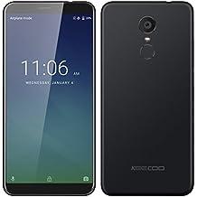 KEECOO P11 4G Smartphone Unlocked with 5.7 Inch HD IPS Screen(18:9), Android 7.0, 2GB RAM+16GB ROM, Quad Core MTK6737, Dual SIM, Camera 8MP+5MP, 3050mAh, Fingerprint Mobile Phones (Black)