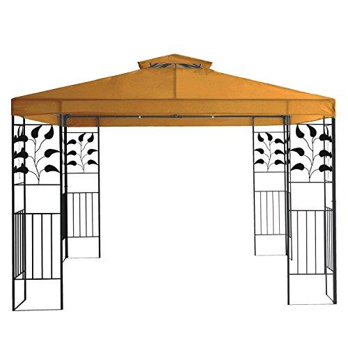 Terena® Gartenpavillon 3x3 m Gazebo mit Entlüftungsfunktion - Garten Pavillon Zelt (Orange-Terracotta)