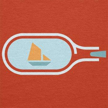 NERDO - Bottled Ship - Herren T-Shirt Orange