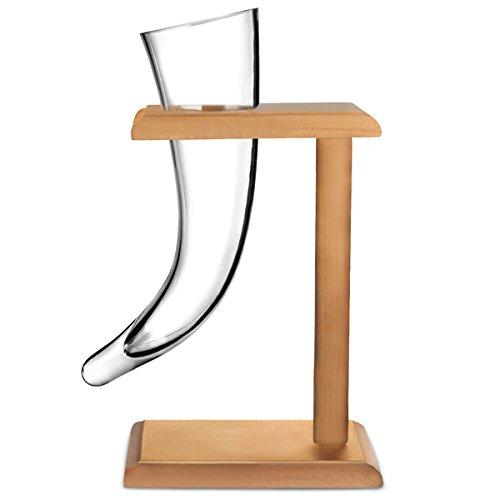 Viking-Clacson da birra, in vetro, 17 g, 480 ml di corno vichingo in vetro, a forma di bicchiere da birra, bicchieri Horn recensioni dei consumatori