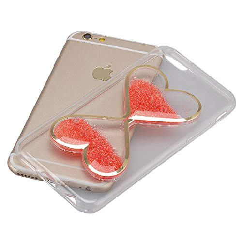 Cover iPhone 6S,Cover iPhone 6, Custodia Cover Case per iPhone 6 / 6S,ikasus® Di lusso Bling Bling scintilla scintillio iPhone 6S / 6 Case Custodia Cover [Cristallo Trasparente] Protetti