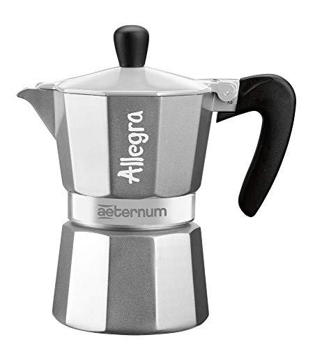 Bialetti 6014 Aeternum Espressokocher allegra 3 Tassen, rot