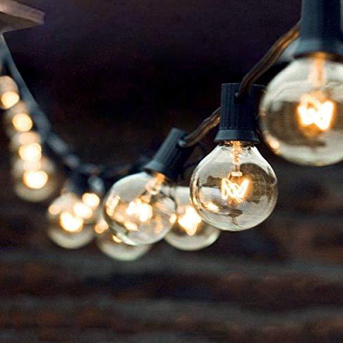 Audex Lichterkette Glühbirnen Retro Außen Wasserdicht G40 Globus Schnur Lichter, (15M / 50FT) -